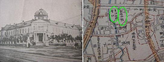 <경성안내>에 소개된 동양척식주식회사의 전경이다. 오른쪽의 <경성부명세신지도>(1914년)에는 동양척식과 더불어 '귀족회관' 자리가 나란히 표시된 모습이 들어있다. 그러니까 지금의 한국외환은행 본점 건물은 이 두 구역을 합친 터전에다 세워 올린 것이다. <경성안내>에 소개된 동양척식주식회사의 전경이다. 오른쪽의 <경성부명세신지도>(1914년)에는 동양척식과 더불어 '귀족회관' 자리가 나란히 표시된 모습이 들어있다. 그러니까 지금의 한국외환은행 본점 건물은 이 두 구역을 합친 터전에다 세워 올린 것이다.